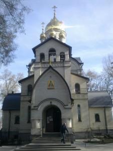 Церковь Св. А. Невского стоит на месте Евдокиевской церкви, разрушенной большевиками