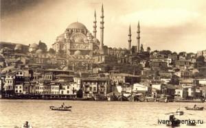 Мечеть Сулеймана и бухта Золотой Рог