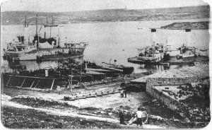 старое фото броненосца А.А.Попова
