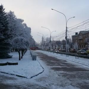 Ставрополь в зимних сумерках