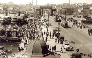 Стамбул.Галатский мост (1935 г.).