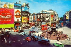 Площадь Пикадилли, Лондон, 1982 г.