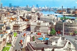 Лондон, 1982 г.,Трафальгарская площадь.