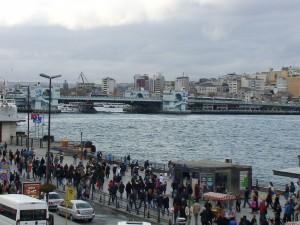 Стамбул.Галатский мост стороны пристани.