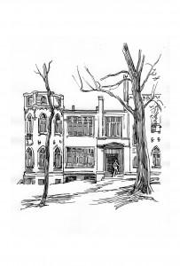 Замок на ул. Барятинской 100