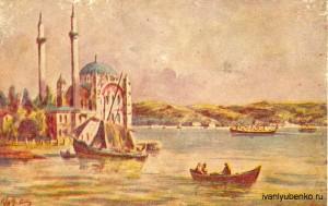 Мечеть Ортакой, Босфор, Стамбул.